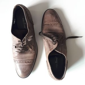 Distressed Leather Oxfords